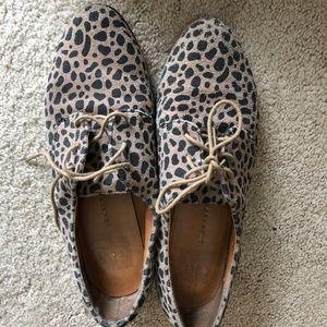Dolce Vita Leopard Print Oxfords